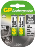 GP AA Rechargeable Batteries for Digital Camera & Flash - 2 Pack 2600mAh